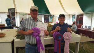 David Hinman (left), Wheatland, was the Grand Champion overall, while Nicholas Gutierrez (right), Casper, was the Reserve Grand Champion overall.